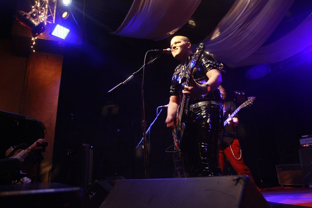 Eddie Star performing with JoyBox live in New York City