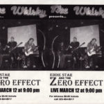 EDDIE STAR & THE ZERO EFFECT FLYER FROM A MARCH 12, 1999 CONCERT DATE.